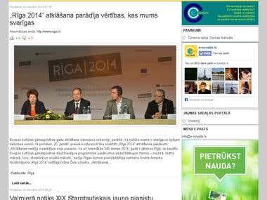 Regional news portal