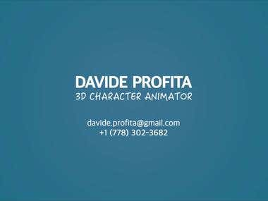 3d Character animation demo reel