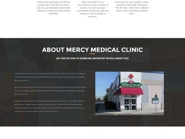 Mercy Medical Clinic Landing Page