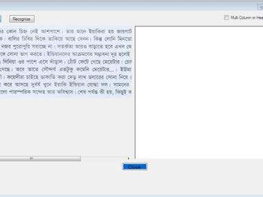 Optical Character Recognition for Bengali Text