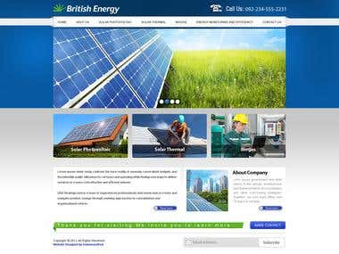 Website of a  Energy Company