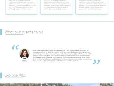 Website design | Villa renting