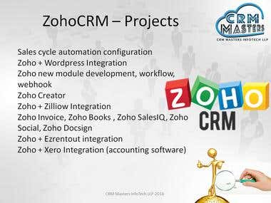 ZohoCRM Development