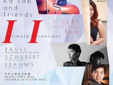 Concert poster for 1st Sept 2016