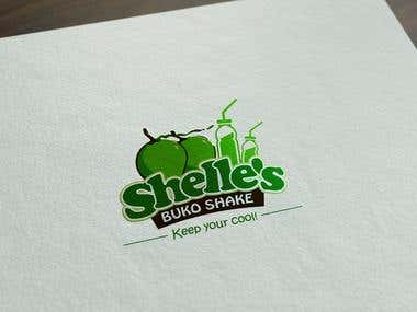 Logo Design for Shelle's Buko Shake