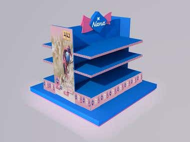 Designed  Display stand Concept FOr   NANA Brand