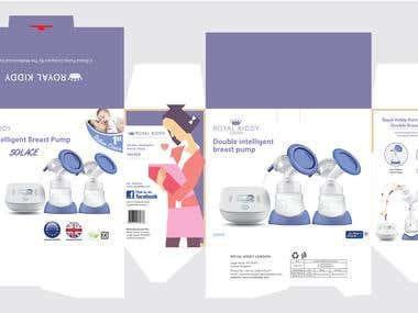 Double Intelligent Breast Pump Product  & Package Design