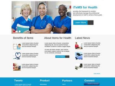 Items for Health Website