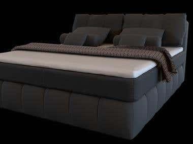 3D model of a bed