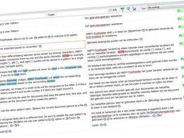 Translation of a software manual - English to Dutch