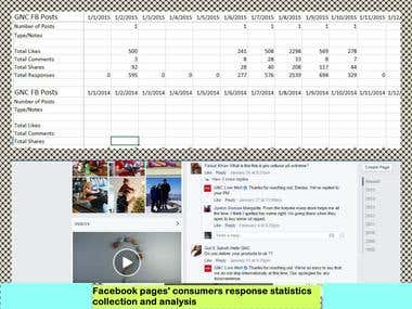 facebook pages consumers response statistics collection and