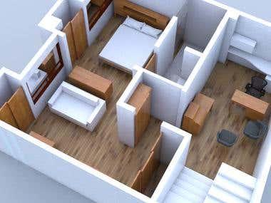 3D model & render