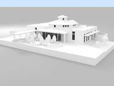 3D model building exterior (for 3d printing)