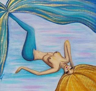 Mermaid painting example