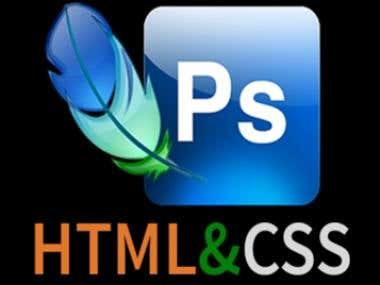 PSD  to  HTML, CSS