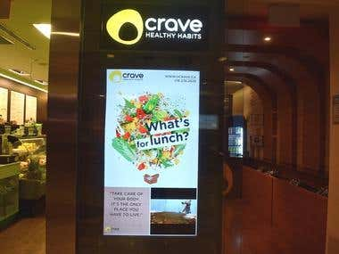Crave Healthy Habits Ad Poster