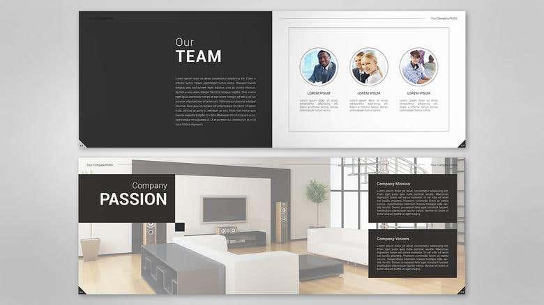Company Profile Design For Interior Freelancer