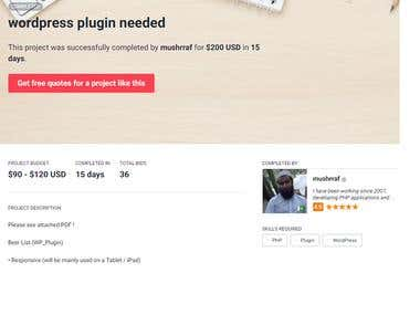 Wordpress Plugin Developed - Inventory Management