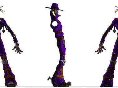 HellSlinger Character Design Sheet