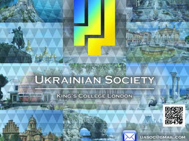 Logo and roll up stand for the Ukrainian Society in London