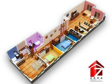 Design Architecture - 3D Representative Plan