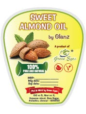 Sweet almond product packaging