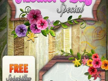 Mother's Day Seasonal Menu Design