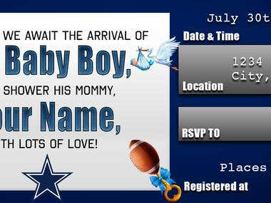 Template for Baby Shower