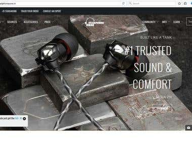 Ecommerce Website of headphone with full features