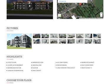 Wordpress :: Real Estate Site
