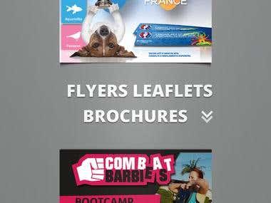 FLYERS, LEAFLETS, BROCHURES