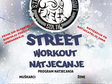 Street workout posters and flyer