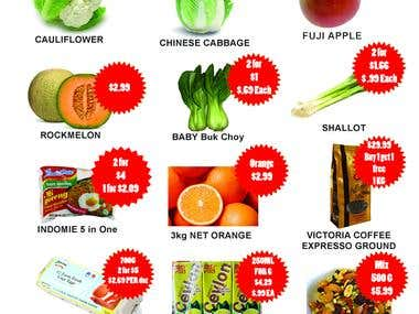 FRUIT AND VEGETABLES FLYER