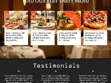 PSD RESTAURANT TEMPLATE