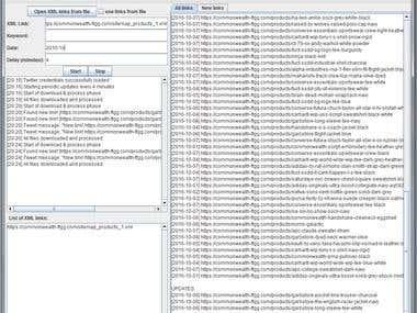 Web scraping application
