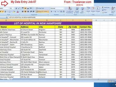 ,,Data Entry,, I have done this job proper way.
