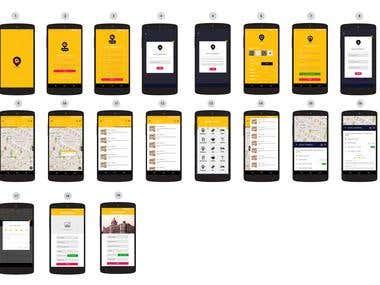 Mobile UI - UX Design Mockup