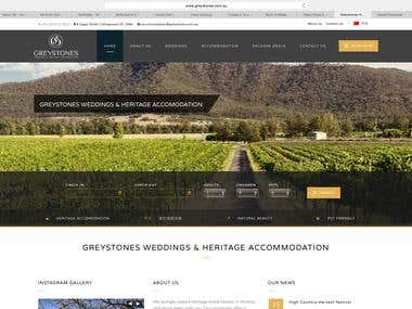 Greystones Weddings & Heritage Accommodations website