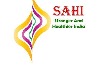 Logo sample work for SAHI