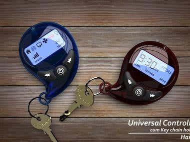 Universal Remote Control cum Keychain holder