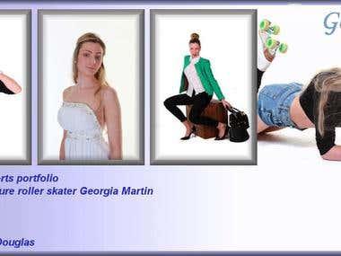 Georgia Martin - international roller skater