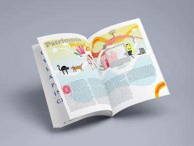 ilustration and magazine design
