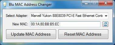 Blu MAC Address Changer