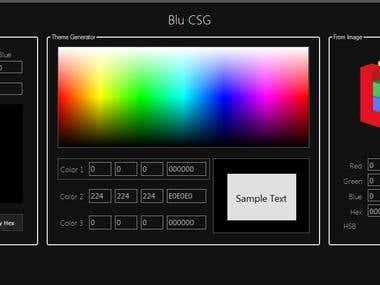Blu CSG (Color Scheme Generator)