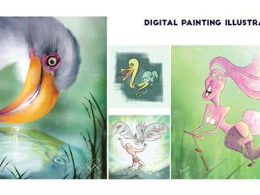 Digital Painting Illustration