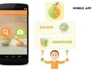 Mobile Application Design, Flat Design