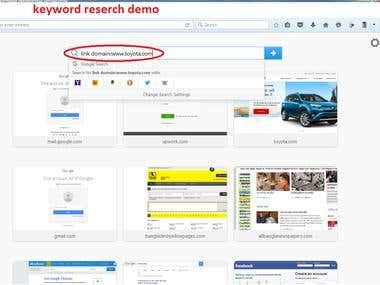 demo of keyword reserch