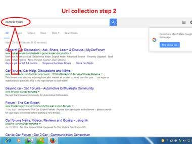 Demo of url collection step