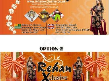 A4 Double sided Flyer for Rehan