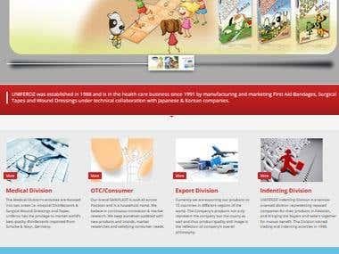 Skin Medication Providing Company WebSite in wordpres